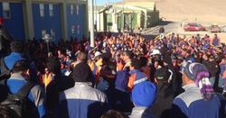 Copper up on strike action in South America