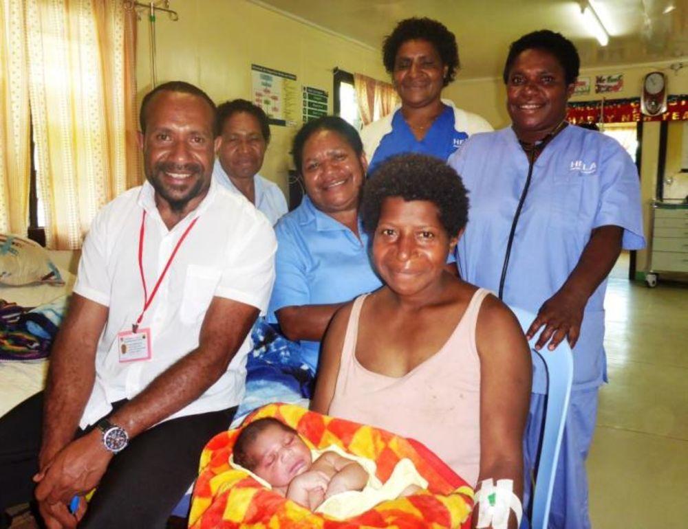 Mercy flight saves mum and son